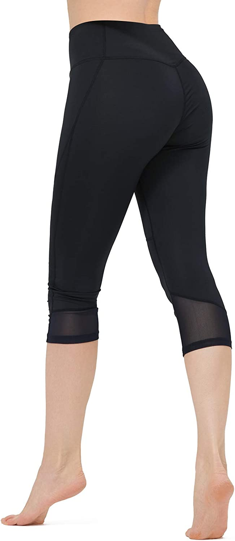 CAMELSPORTS Women's Capri Leggings High Waist Yoga Pants Stretch
