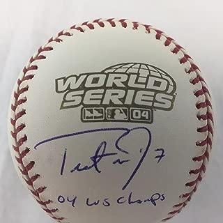trot nixon signed baseball