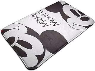Duwamesva Bath Mat- Cute Mickey Mouse Design, Non Slip Absorbs Soft Rug Carpet for Indoor Outdoor Patio