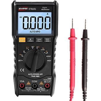 Roeam Multimetro Mini Tascabile Digitale Professionale RICHMETERS LCD Tester Portatile,Rivelatore NCV Induttanza//RMS//Capacimetro//Ohm con Penna,Retroilluminato