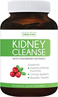 Kidney Cleanse (Vegetarian) Supports Bladder Control & Urinary Tract - Powerful VitaCran Cranberry Extract - Natural Herbs Supplement - Kidney Health, Flush & Detox - 60 Capsules (No Pills)