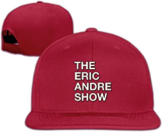 Male/Female The Eric Andre Show Cotton Flat Snapback Baseball Caps Adjustable Mesh Hat Leisure Hat White One Size Fits Most