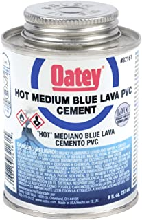 OATEY 32160, 8 OZ. PVC BLUE LAVA HOT MEDIUM BODIED CEMENT - UP TO 6