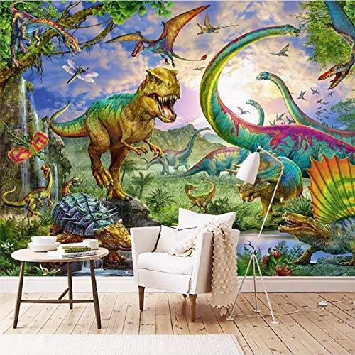 Fototapete 3D Effekt Tapete Selbstklebend 3D Tapete Schlafzimmer Handbemalte Dinosaurier Tyrannosaurus Fresko Tv 3D Tapeten 3D Effekt Wohnzimmer Wandtapete Poster Bilder