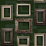 Muriva L35104 - Carta da parati vintage con cornici, confezione da 12 pezzi, colore: Verde