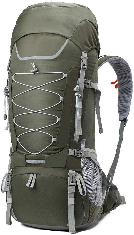 DKfg Outdoor-Camping 75l groe Kapazitt Bergsteigenbeutel atmungsaktive Sporttasche Wandern Multifunktionsreisetasche