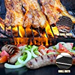 BACKTURE BBQ Grill Mat (5 pcs) 33x40 cm + 2 Brushes for Grilling and BBQ Non-Stick Grill Baking Mat Large Grill Foil… 12