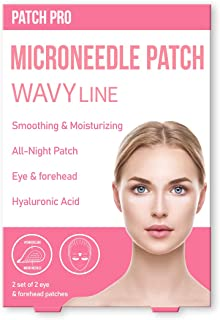 [PATCH PRO] Wavy Line Microneedle Patch -Overnight Treatment for Forehead & Eyes to Fights Wrinkles and Sagging Skin