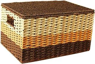 FxsD Boîte de Rangement avec Panier de Stockage de Paille, boîte de Rangement boîte de débris, des sous-vêtements Chausset...
