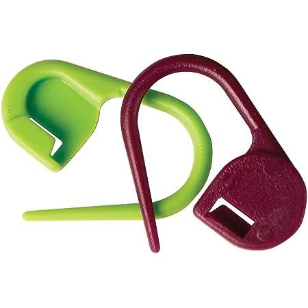 KnitPro - Marcador de punto para tejer (plástico, 30 unidades), color verde y púrpura