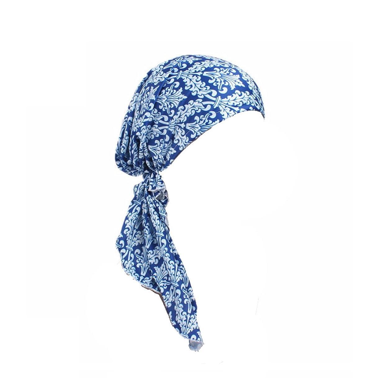 乳エコーマインドフルEver Fairy ターバン レディース スカーフキャップ 花柄 ヘッドスカーフ 睡眠、抗UV、脱毛症、化学療法の患者のために バイザー