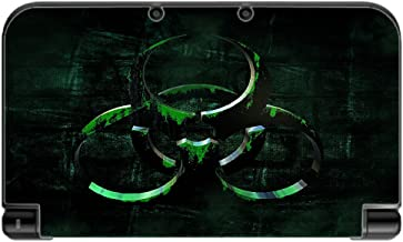 Biohazard Nuclear Green Black Vinyl Decal Sticker Skin by Moonlight Printing for New 3DS XL 2015