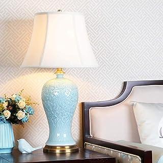 nakw88 Lampe de Table Lampe Nouveau Lampe de Table en céramique de Style Chinois de Style Chinois Vert Grand Salon Décorat...