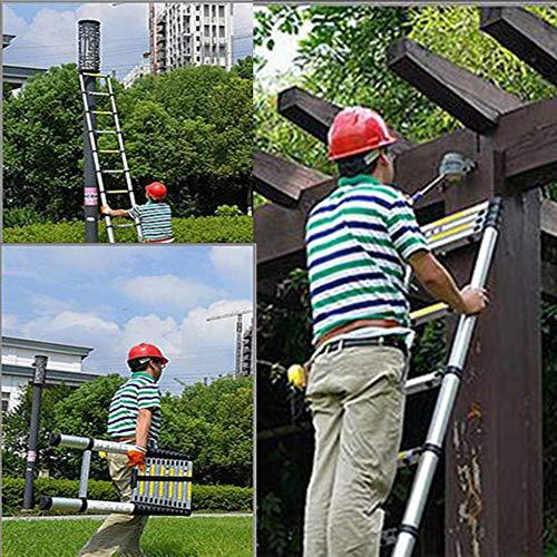 Aluminum Telescoping Extension Ladder Telescopic Ladder Multi Purpose Ladder, 330 Pound Capacity (8.5 Feet)