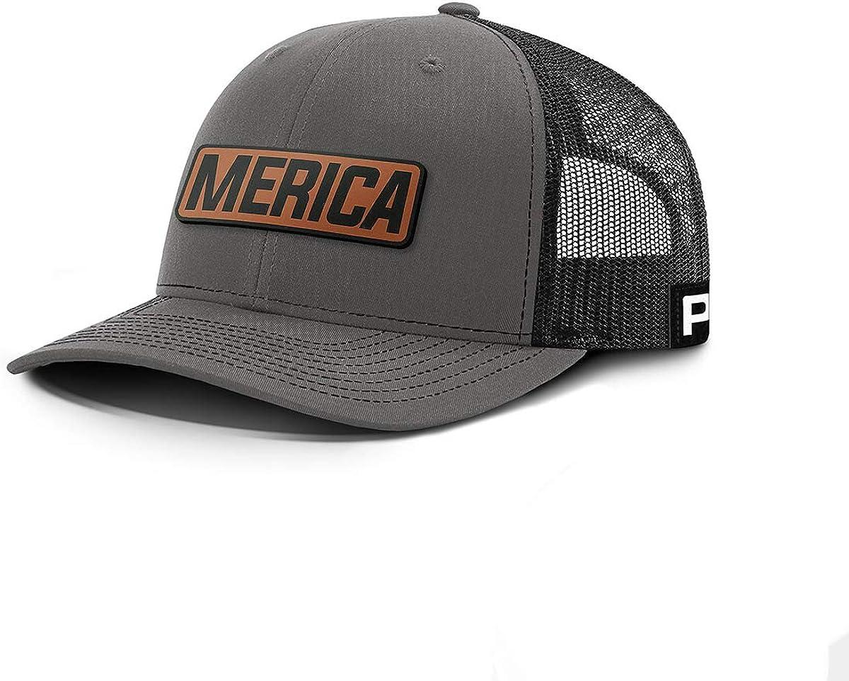 Printed Kicks Merica Leather Patch Back Mesh Hat