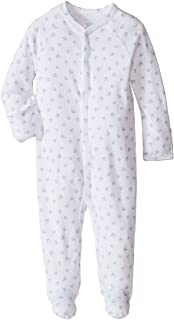 Baby Boys Block-Print Cotton Footed Coverall Pearl Blue