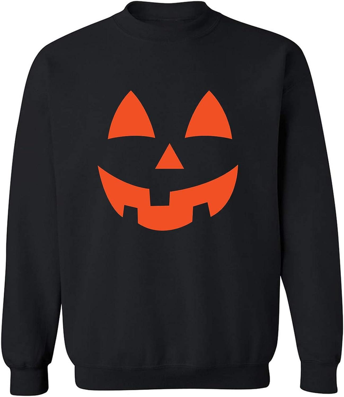 Orange Pumpkin Face Crewneck Sweatshirt