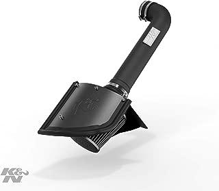 K&N Cold Air Intake Kit with Washable Air Filter:  2012-2018 Jeep (Wrangler, Wrangler JK) 3.6L V6, Blackhawk Finish w/ dry black filter, 71-1566