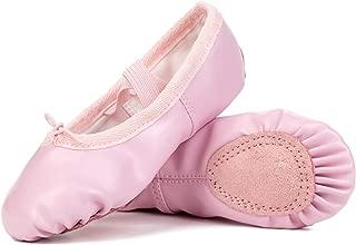 Barerun Girls Leather Ballet Dance Shoes for Women Pointe Shoes Slippers Flats Yoga Practice Shoe(Infant/Toddler/Little Kid/Big Kid/Women)