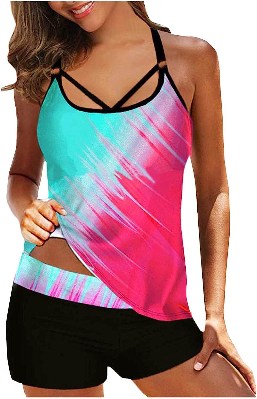 Tankini Beauty products Swimsuit for Women Two Padded Piece Swimwear Beachwear P Superior