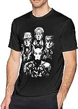 Hodenr Mens Classic Jojos Bizarre Adventure T Shirts Black