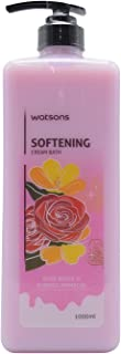 Watsons Softening Cream Bath, Rose Water & Evening Primrose - 1000ml