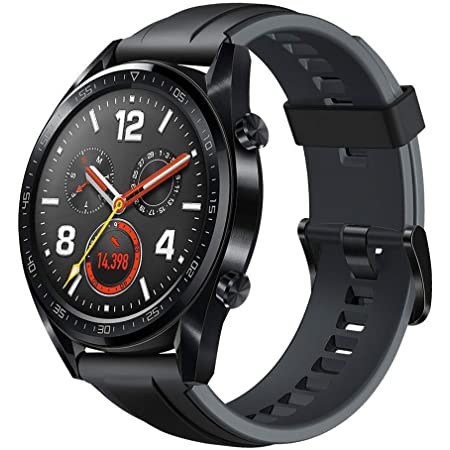 """HUAWEI Watch GT - GPS Smartwatch with 1.39"""" AMOLED Touchscreen, 2-Week Battery Life, 24/7 Continuous Heart Rate Tracking, Multiple Outdoor and Indoor Activities, 5ATM Waterproof, Black"""