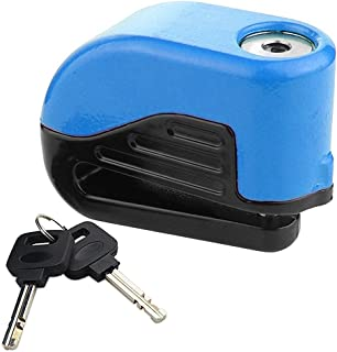 Agile-shop 6mm Pin Motorcycle Bike Anti Thief Sound Security Alarm Electron Disc Brake Lock with Two Keys