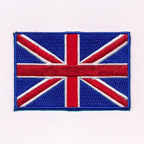 40 x 25 mm Königreich Großbritannien London Flag Patch Aufnäher Aufbügler 0635 A