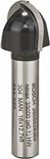 Bosch 2 608 628 369  - Fresas para medias cañas - 8 mm, R1 8 mm, D 16 mm, L 13 mm, G 45 mm (pack de 1)