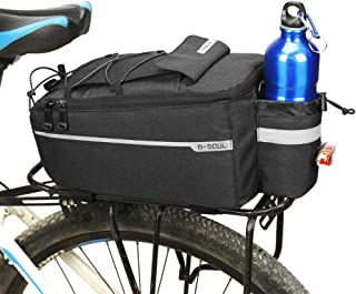 Ehinew Bike Rack Bag,Bike Saddle Bags for Rear Rack,Bike Trunk Bag,MTB Bike Pannier Bags with Adjustable Mounting Straps,Reflective/Waterproof