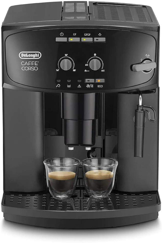 a la venta Delonghi Caffe Corso Esam 2600 Cafetera Cafetera Cafetera Compacta, 1450 W, 1.8 Litros, Acero Inoxidable, Negro  bajo precio