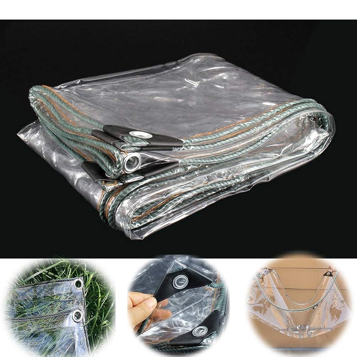 旅行分散合計GZHENH 防水 UVシート防水 アイレット付き 防風 家具カバー パティオ テーブルと椅子 防雨防水シート 、カスタマイズ可能 (Color : 明確な, Size : 1x8m)