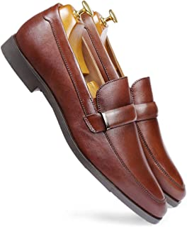 one8 Select by Virat Kohli Men's Brown Leather Formal Loafer