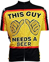 Men's Cycling Jersey This Guy Needs A Beer Short Sleeve Summer Bicycle Clothing Quick Dry MTB Jersey Cycling Shirts