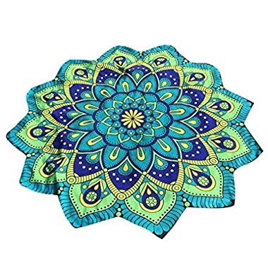 HOT, YANG-YI Lotus Hippie Tassel Tapestry Flowers Beach Throw Cushion Towel Yoga Mat Bohemian blanket (E, 57 inches approx)