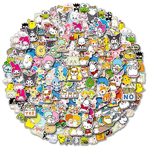 200 PCS Cute Kawaii Stickers,Vinyl Waterproof Stickers for Laptop,Bumper,Skateboard,Water Bottles,Computer,Phone, Cute Anime Stickers for Kids Teens Adult (Kawaii 200pcs Stickers)