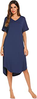 Ekouaer Maternity Dress Women's Labor Delivery Gowns Hospital Sleepwear S-XXL