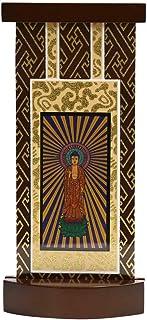 ティアラ 【小】 ブラウン色 スタンド掛軸 モダン掛軸台 高さ20cm 本尊 浄土真宗本願寺派(西)