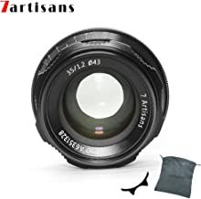 7artisans 35mm F1.2 APS-C Manual Focus Lens Widely Fit for Compact Mirrorless Cameras Fuji X-A1 X-A10 X-A2 X-A3 A-at X-M1 XM2 X-T1 X-T10 X-T2 X-T20 X-Pro1 X-Pro2 X-E1 X-E2 E-E2s (Black)