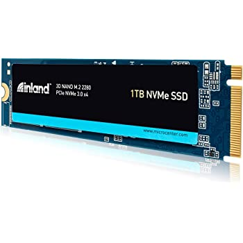Inland Premium 1TB SSD 3D NAND M.2 2280 PCIe NVMe 3.0 x4 Internal Solid State Drive, Read/Write Speed up to 3100MB/s and 2800MB/s