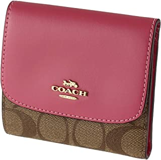 Signature PVC Small Wallet Khaki Pink Ruby F87589