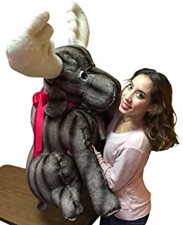 Big Plush American Made Giant Stuffed Moose Absolutely Huge Stuffed Animal 45 Inches