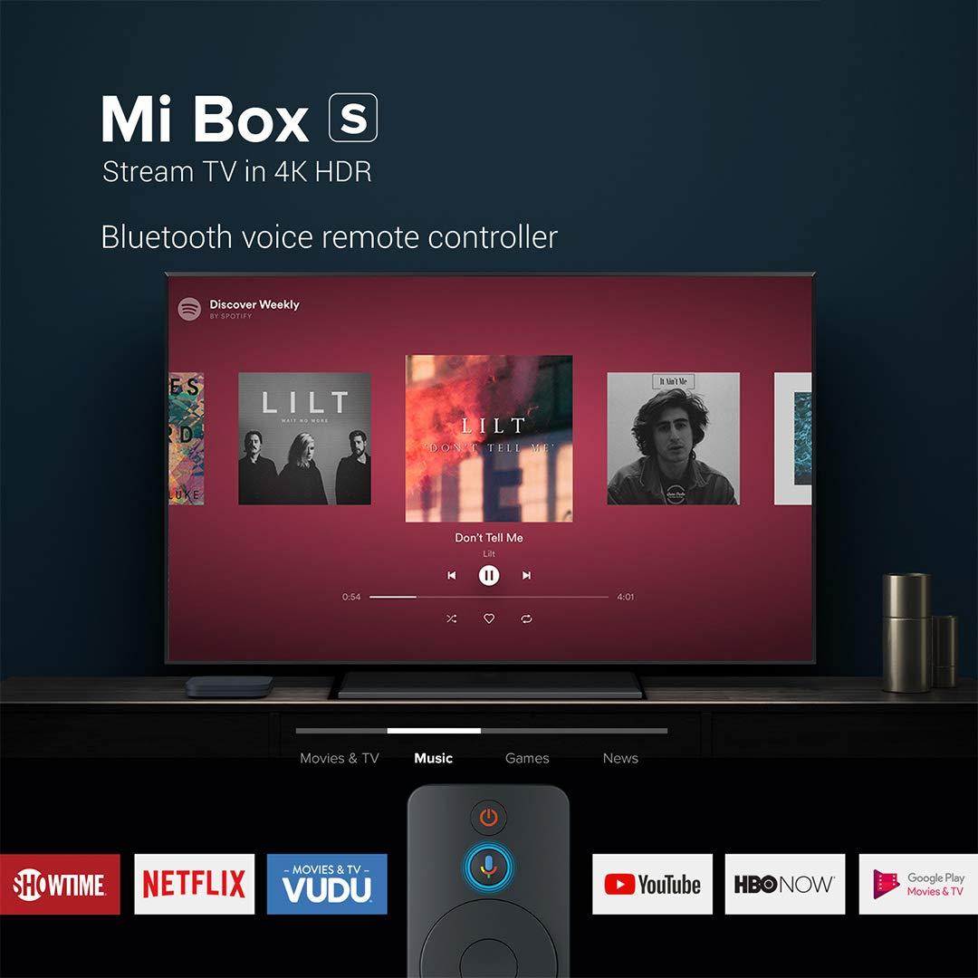 Original Xiaomi TV Box S (EU Version) Reproductor de Contenido Multimedia en Streaming en 4K Ultra HD, Bluetooth, Wi-Fi, Asistente de Google con Chromecast, Negro: Amazon.es: Electrónica