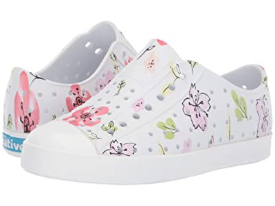 Native Kids Shoes Jefferson Print (Little Kid) (Shell White/Shell White/Blossom Paint) Girls Shoes
