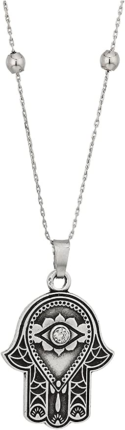 Path of Symbols - Hand of Fatima III Expandable Necklace w/ Swarovski® Crystals