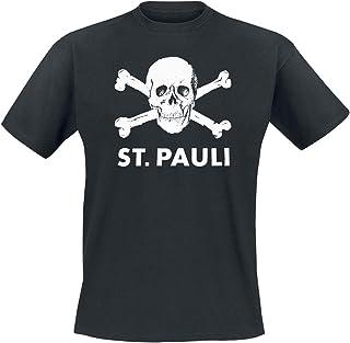 FC St. Pauli Skull Hombre Camiseta Negro, Regular