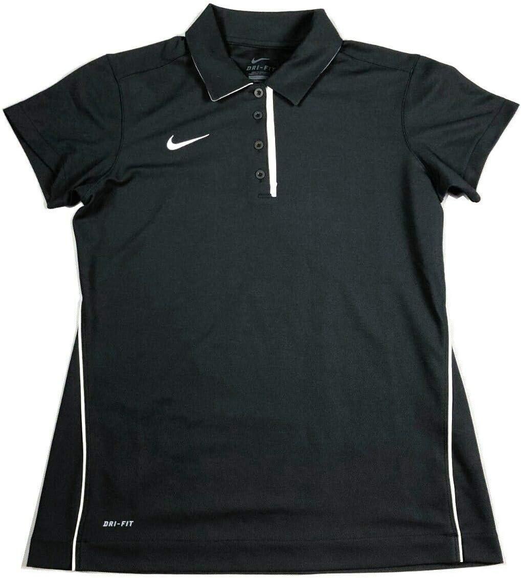 NIKE Dri-Fit Women's Dedication Gray Polo Short Sleeve Shirt NWT 621956 061 SZ M