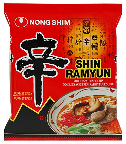 Nong Shim Shin Ramyun Noodle Soup - Spicy 4.2oz.(pack of 5)