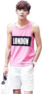 袖なしTシャツ インナーシャツ スポーツウェア 英字プリント ランニング トレーニング フィットネス 夏ファッション